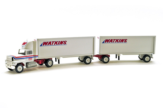 Ford Tractor w/Double Pup Trailer - Watkins