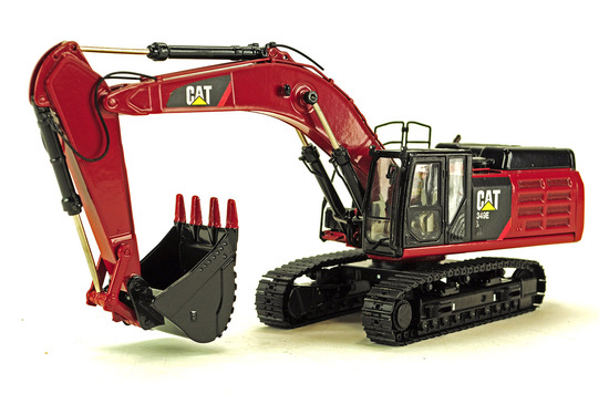 Caterpillar 349E L Excavator - Custom Red