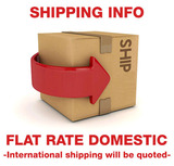 Flat Rate Domestic Shipping and Other Info