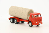 3-Axle Cabover Truck w/Culvert Pipe - Red