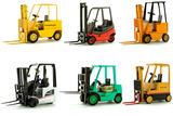 Set of 6 Forklift Models