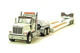 International HX520 Tandem Tractor w/3-Axle Flip Trailer