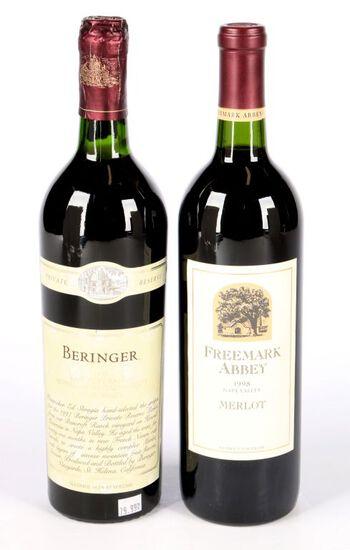 2 bottles of Napa Valley Merlot
