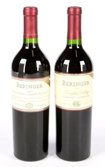 Two Beringer Knights Valley Cabernets
