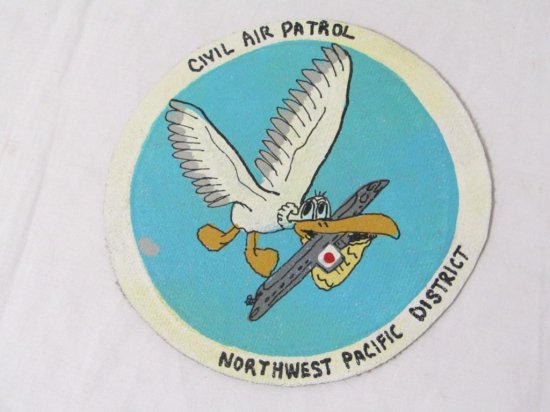 US Leather Hand Painted Patch.Civil Air Patrol Northwest Pacific District