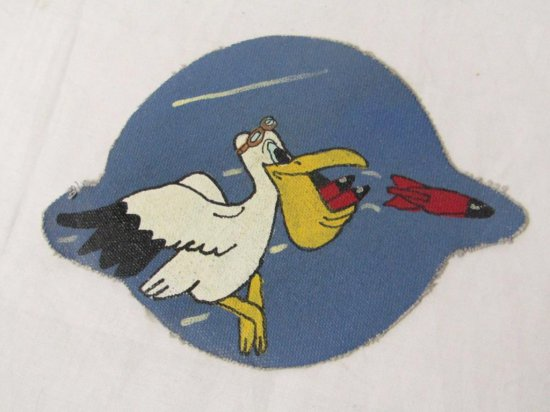 US Leather Hand Painted Patch.USAAF 8AAF, 67BS 44BG