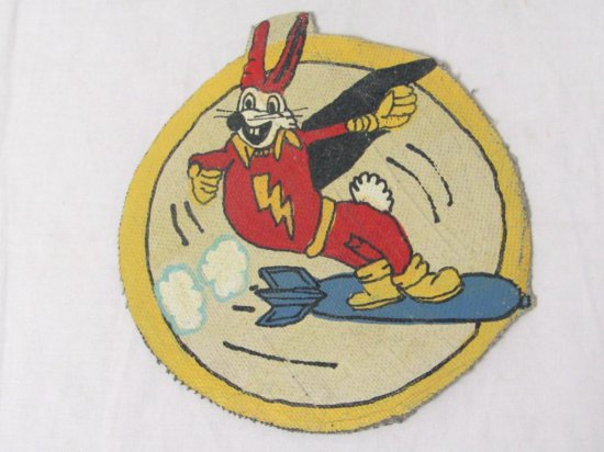 US Leather Hand Painted Patch. USAAF 715thBS, 448th BG 8th AAF