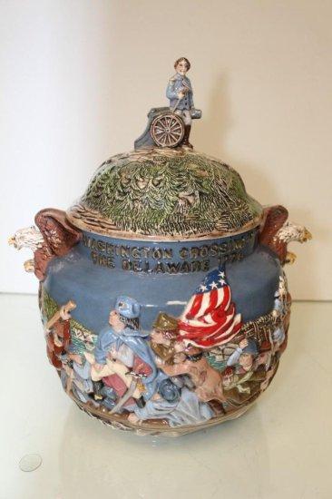 Vintage Washington Crossing the Delaware Cookie Jar  Made