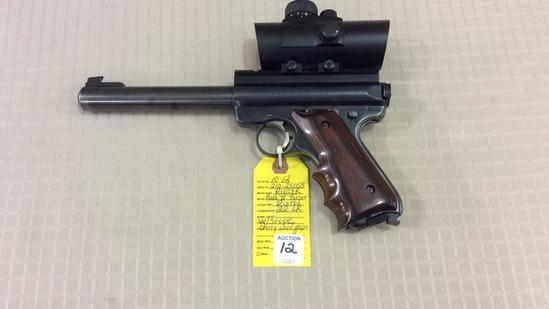 Ruger Mark II Target Pistol w/ Scope Cal 22LR,