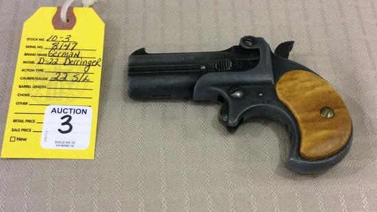Derringer Model D-22 Pistol Cal .22 S/L Rare