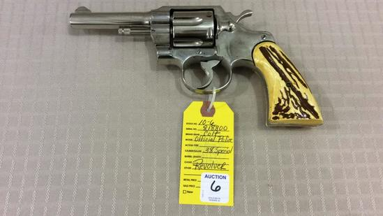 Rare Colt Official Police 38 Special Nickel SAA