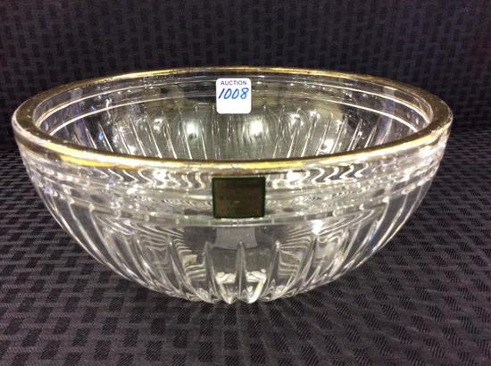 Waterford Marquis Crystal Bowl w/ Gold Trim