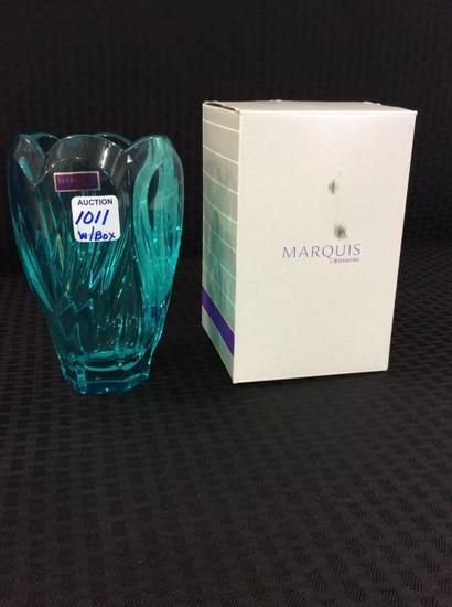 Waterford Marquis Turquosis Crystal Vase w/ Box