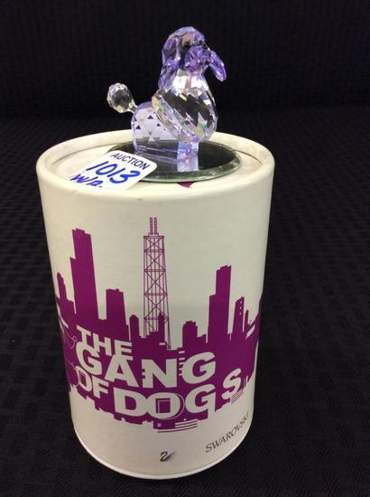Swarovski-Gang of Dogs-Poodle Violette