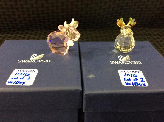 Lot of 2 Swarovski Animals Including