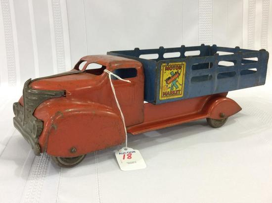 Marx Metal Toy Truck Motor Market Delivery