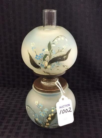 Miniature Dbl Globe Floral Painted Miniature