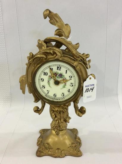 Sm. Ornate Brass New Haven Clock (Missing