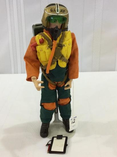 Vintage 1964 GI Joe Fighter Pilot Figure  w/