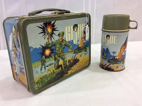Vintage 1964 GI Joe Lunch Box w/ GI Joe
