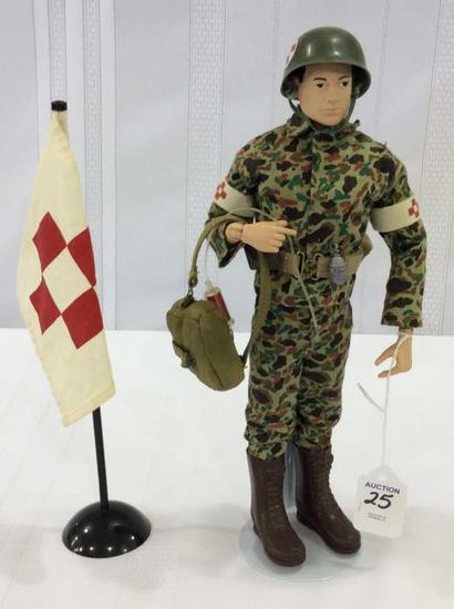 Vintage 1964 GI Medic Figure  w/ Accessories