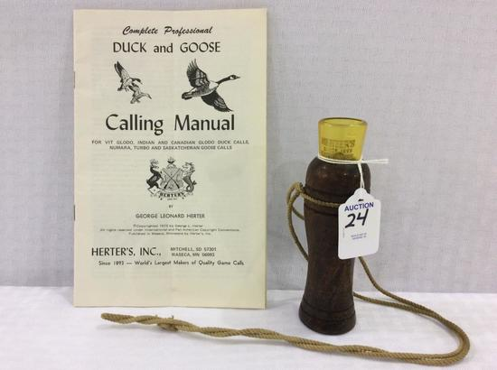 Herters Duck Call w/ Booklet (Showcase Not