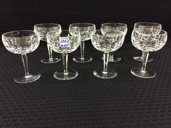 Lot of 8 Waterford Crystal Stemware