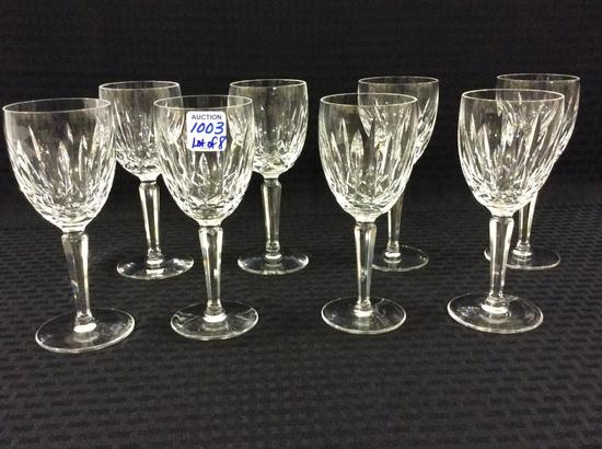 Lot of 8 Waterford Crystal Wines