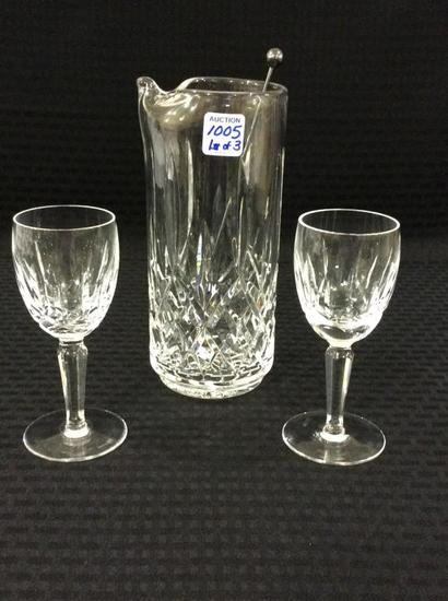 Lot of 3 Waterford Crystal Pieces Including