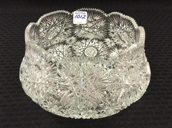 Lg. American Brilliant Cut Glass Bowl