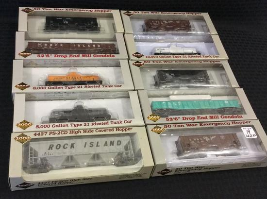 Lot of 10 Proto 2000 Series HO Scale Cars-NIB