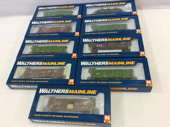 Lot of 9 Walthers Mainline HO Scale Cars-NIB