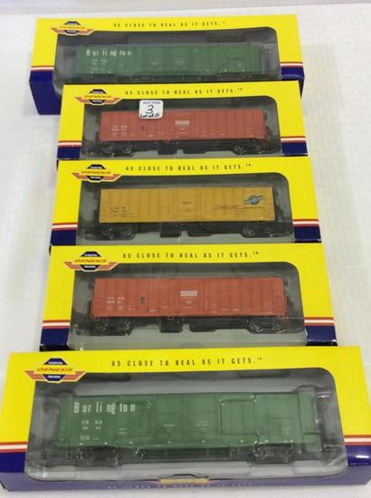 Lot of 5 Genesis From Athearn HO Scale Box Cars-