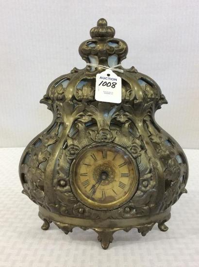 Iron Ornamental Wind Up Clock