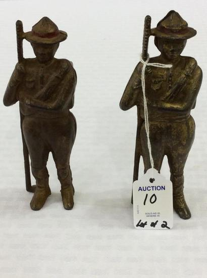 Lot of 2 Boy Scout Design Iron Banks