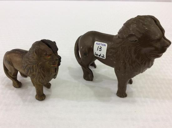 Lot of 2 Iron Lion Banks
