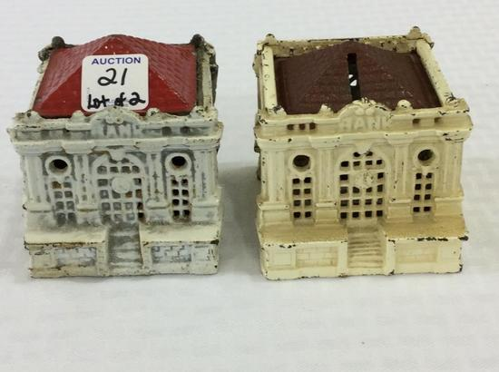 Lot of 2 Iron Bank Building Banks