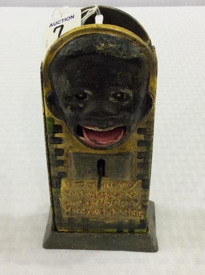 Black Memorabilia Mechanical Bank