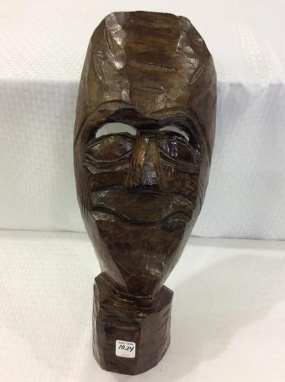 Carved Wood Mask-18 Inches Long