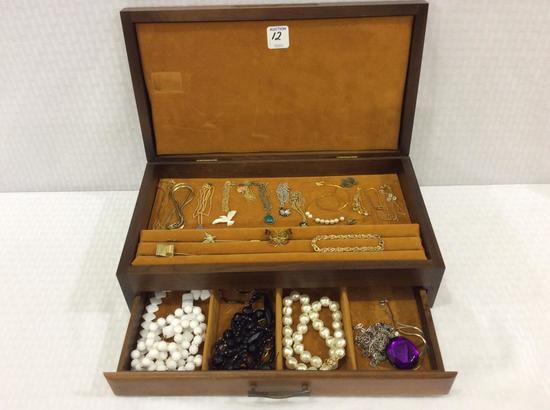 Jewelry Box Filled w/ Ladies Various Costume