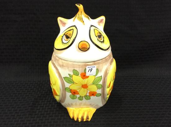 Lefton China Owl Cookie Jar (Approx. 12 Inches