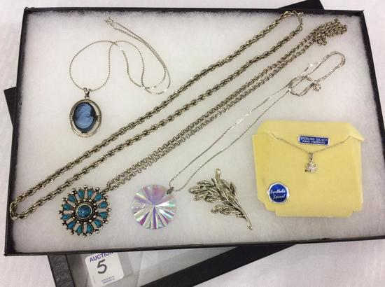 Collection of Ladies Silver Costume Jewelry