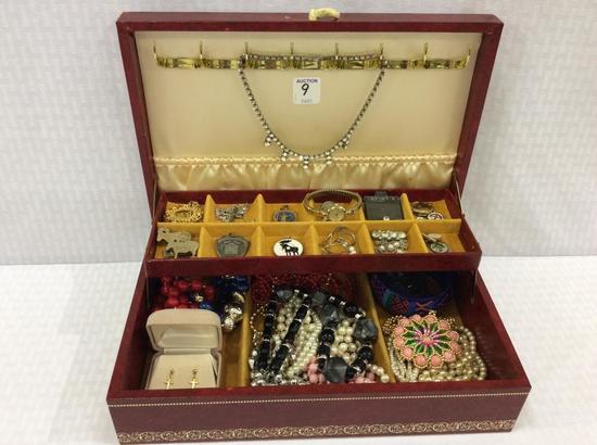 Jewelry Box Filled w/ Various Ladies Costume