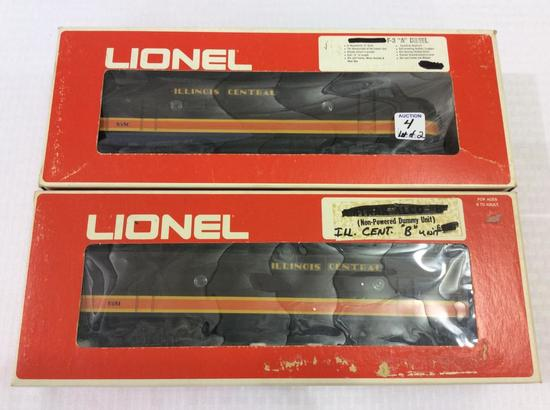 "Lot of 2 Lionel O-Gauge Illinois Central F-3 ""A"""