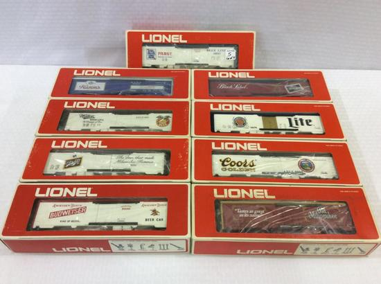 Lot of 9 Lionel O-Gauge Reefer Cars in Boxes