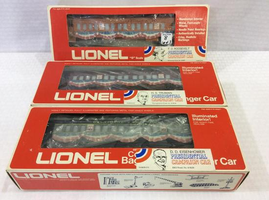 Lot of 3 Lionel 0-Gauge Presidential Campaign