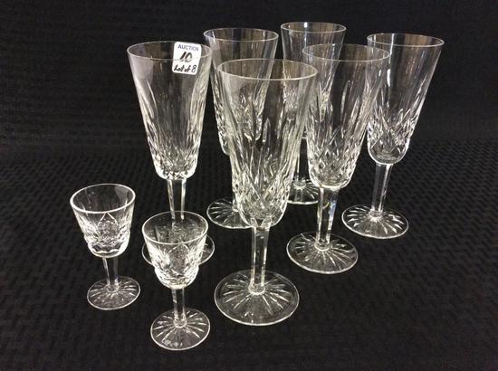 Lot of 8 Waterford Stemware Pieces Including
