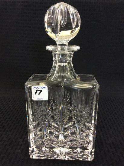 Crystal Stotch Decanter Signed France