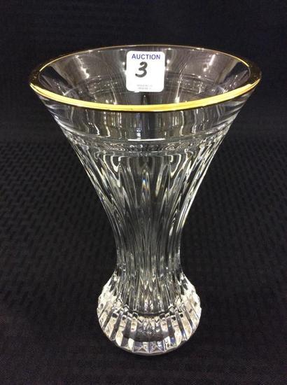Waterford Crystal Gold Trim Vase