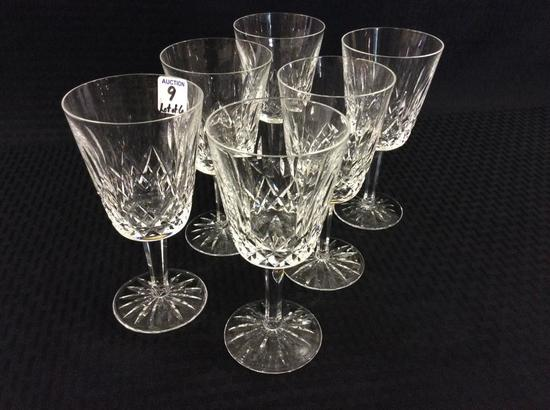 Lot of 6 Waterford Stemware Goblets